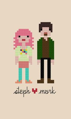 Custom Cross Stitch Pattern of your sweetheart at Pixel People-  Cool crafty Valentine's Day gift!