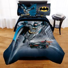 Warner Bros Boys Bedding Set Twin Batman Guardian Speed Bed in Bag Hero Case for sale online Batman Kids Rooms, Batman Bedroom, Room In A Bag, Bed In A Bag, Duvet, Twin Comforter, Bedding Sets, Urban Outfitters, Black Batman