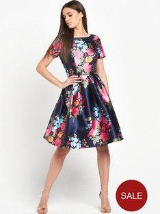 876b256c3cf Chi Chi London Floral Print Scoop Back Midi Dress Confirmation Dresses
