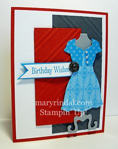 {scrap and stamp with mary}: Dress-ups with Fab Friday Color Challenge...Stylish Striped & Dress Up Framelits