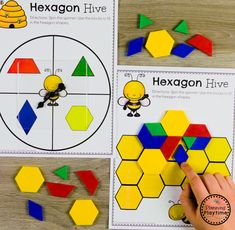 Composing Shapes - Math Game for Kindergarten #kindergarten #kindergartenmath #shapes #geometry #kindergartenworksheets #mathgames #planningplaytime