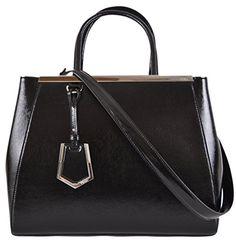 Fendi Women's Black Saffiano Leather 2Jours Convertible Handbag