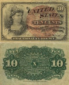 United States Fractional Currency 10 Cents 3.3.1863 (Liberty)