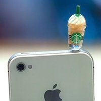Starbucks Frappuccino Phone Plug - $10 for a pack of 6 cool! but it may hurt if you have in your pocket