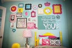 Really cute pic idea for little girls room.....could do similar in boys room with different colors and designs