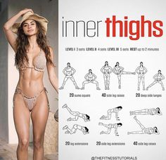 These Are the 11 Thigh-Sculpting Exercises Every Woman Needs to . Tone and Strengthen Your Lower Body With This Workout by . Fitness Workouts, Leg Day Workouts, Back Exercises, Thigh Exercises, Butt Workout, At Home Workouts, Fitness Tips, Reto Fitness, Tone Inner Thighs