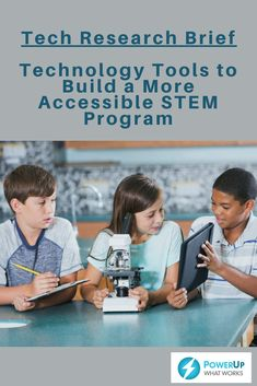 Mainstream tech tools with built-in accessibility features, and the availability of virtual reality, simulations, and augmented reality offer new opportunities for students with disabilities to access and engage with STEM content. This brief presents ways for to align the Next Generation Science Standards practices using accessible tech and STEM tools with principles of Universal Design for Learning.