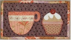 Pattern: Tea and Cake Mug Rug · Quilting | CraftGossip.com and offers the pattern for it in her shop at an affordable $1.99.