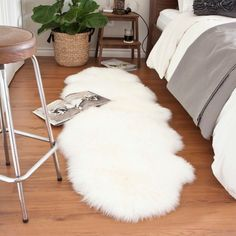 I'd like to sink my toes into this Sheepskin runner every morning.