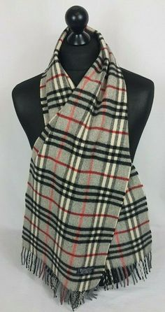 9b665478ca BURBERRY SCARF 100% LAMBSWOOL FOR MEN AND WOMEN MADE IN ENGLAND #A1206  #fashion