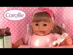(137) Poupée Corolle Baby Doll Mon bébé Classique Blondinette Coffret de bébé Cerise Accessoires - YouTube