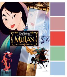 Poster Palette - Mulan - Inspired By Dis