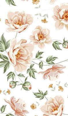 Floral Pattern Design with Blooming Garden Floral Patterns A series of seamless . Vintage Flowers Wallpaper, Flower Phone Wallpaper, Iphone Background Wallpaper, Aesthetic Iphone Wallpaper, Vintage Floral Wallpapers, Vintage Flower Backgrounds, Art Background, Illustration Blume, Floral Pattern Vector