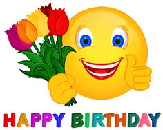 Via GIFER Happy Birthday Smiley Messages Greetings