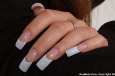 How to choose your fake nails? - My Nails Acrylic Nails Stiletto, French Tip Acrylic Nails, Long Square Acrylic Nails, White Acrylic Nails, Square Nails, French Nails, White Tip Nails, Long Nail Designs, Nail Art Designs