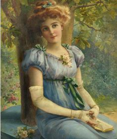⊰ Posing with Posies ⊱ paintings of women and flowers - Emile Vernon