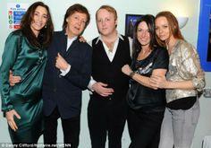 Nancy Shevelle-McCartney, Paul McCartney, James McCartney, Mary McCartney, and Stella McCartney