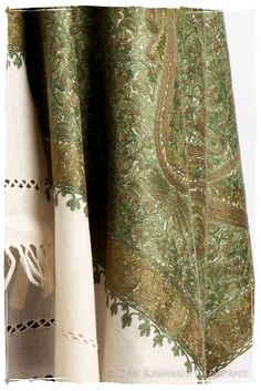 You've always loved the romantic thrill of hunting for antiques, and there's no better place to do so than the sprawling cobbled lanes of Paris. The Antiquaires Shawl sets the mood, with its beguiling