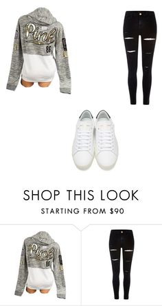 """""""pink"""" by tylerthequeen001 ❤ liked on Polyvore featuring Victoria's Secret, River Island and Yves Saint Laurent"""