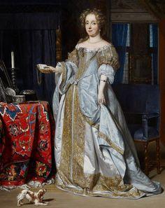 Portrait of a lady by Gabriel Metsu, Gabriël Metsu 17th Century Fashion, 17th Century Art, Historical Costume, Historical Clothing, Baroque Fashion, Vintage Fashion, Gabriel Metsu, Mode Baroque, L'art Du Portrait