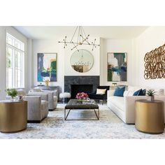 Looking for modern living room ideas with furniture and decor? Explore our beautiful living room ideas for interior design inspiration. Living Room Modern, My Living Room, Living Room Interior, Living Room Designs, Small Living, Living Room Decor Fireplace, Room Wall Decor, Modern Fireplace Decor, Fireplace Art