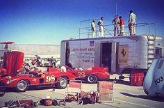 Racing Team, Road Racing, F1 Motor, Motor Sport, Ferrari Racing, Carroll Shelby, Car Trailer, Old Race Cars, Classic Sports Cars