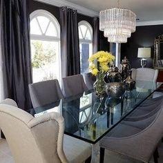 Jeff Lewis Design - dining rooms - Chandelier,  Chandelier is divine!