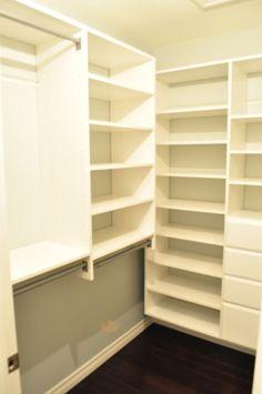 This is the Martha Stewart closet system: Dream Closet- Installation