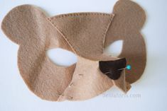DIY felt bear mask tutorial