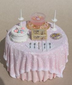 """PARTY TABLE Table is 4""""W X 4 1/2""""W."""
