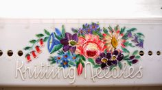 Porcupine Design - vintage knitting needle case box