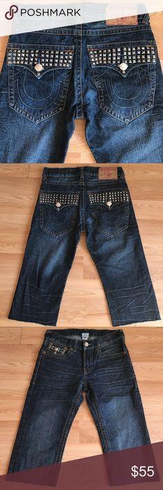 Men true religion short Perfec condition True Religion Shorts Jean Shorts