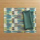 Recycled Dax Placemat and Cotton Sea Green Napkin