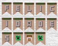 Printable gratis: fiesta Minecraft - Las cosas de Maite