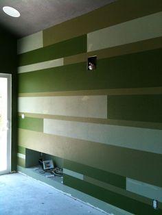 Green Pinstripe wall!