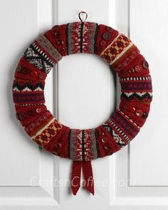 Sweater Wreath - recycling sweaters