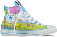 I want a pair of these.  Dr. Seuss x Converse Chuck Taylor All Star - The Lorax Collection (1)
