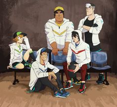 Team Voltron :3 I guess Shiro is to old for Caps ;)