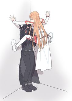 Asuna x Kirito Sword Art Online Asuna, Tous Les Anime, Desenhos Love, Sword Art Online Wallpaper, Kirito Asuna, Accel World, Cute Anime Couples, Anime Love, Cute Art