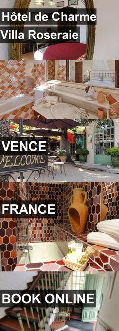 Hotel Hôtel de Charme Villa Roseraie in Vence, France. For more information, photos, reviews and best prices please follow the link. #France #Vence #HôteldeCharmeVillaRoseraie #hotel #travel #vacation