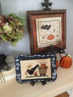 Priscillas: Fall Dining Room and Two Cross Stitch Finishes