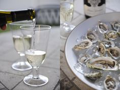 oysters & white wine via Cupcakes & Cashmere