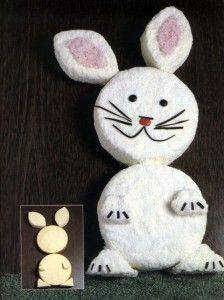 Bunny Cake - too cute!! I am totally doing this. (Wish me luck...and check back to see how it turns out!)