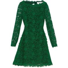 Valentino Emerald Backless Lace Dress (9.490 BRL) ❤ liked on Polyvore featuring dresses, valentino, vestidos, green, emerald, lace dress, a line dress, green dress, long sleeve lace dress and emerald green dress