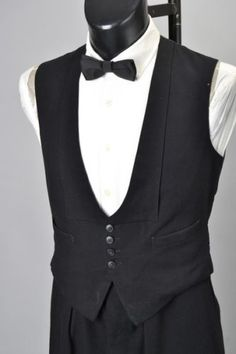 1951-Camberley-Tailored-Black-Tie-Dinner-Jacket-Evening-Dress-Waistcoat-BCR