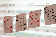 Poker party baby shower - decoration ideas