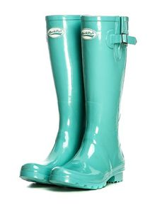 Turquoise Wellington, Seriously!!  These should be mine!  mt