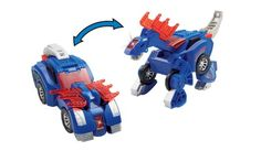 Transform from a hot rod vehicle into a cool dinosaur with VTech's® Sir Stompsalot the Amargasaurus! With a long spiny neck and powerful body, he's pledged to defend the kingdom. Join him on this formidable adventure!    http://www.vtechkids.com/product/detail/13298/Switch_and_Go_Dino___Stompsalot_the_Amargasaurus