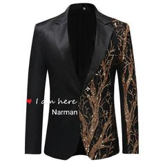 There is always many products on sae upto - YUNCLOS Single Breasted Sequin Stage Suit Jacket Men Party Hip Hop Suit Fashion Digital Printing Drama costume Blazer - eTrendings Blazers For Men Casual, Casual Blazer, Black Blazers, Blazer Suit, Blazer Outfits, Casual Outfits, Suit Vest, Black Suits, Blazer Jacket