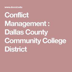 Conflict Management : Dallas County Community College District